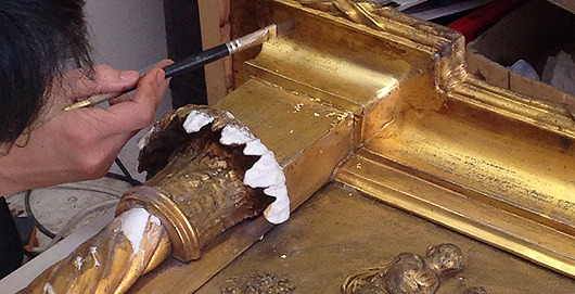 Water, Gold Leaf, Oil Gilding In London   Stevens Furniture Restoration